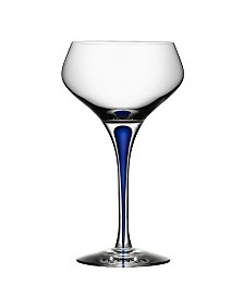 Orrefors Intermezzo Blue Champagne Coupe Glass