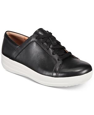 핏플랍 F-스포티 II 레이스업 스니커즈 - 블랙 FitFlop F-Sporty II Lace-Up Sneakers,Black