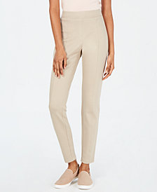 Style & Co Curvy Seamed Ponté-Knit Pants, Created for Macy's