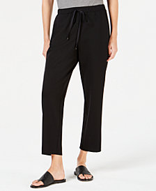 Eileen Fisher Slouchy Drawstring Ankle Pants, Regular & Petite