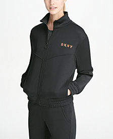 DKNY Sport Funnel-Neck Logo Jacket, Created for Macy's