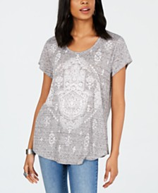 Style & Co Short-Sleeve Printed Scoopneck Graphic T-Shirt, Created for Macy's
