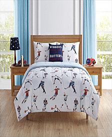 Sport Team Twin 5 Piece Comforter Set