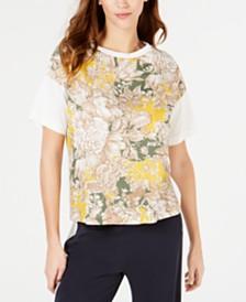 Weekend Max Mara Floral-Print Cotton T-Shirt