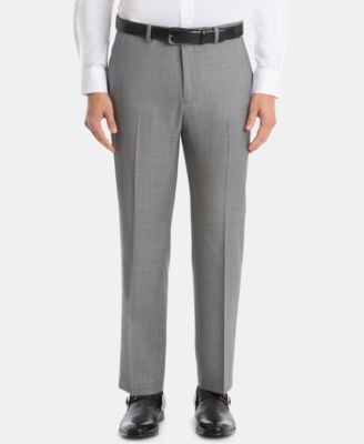 Men's UltraFlex Classic-Fit Sharkskin Wool Pants