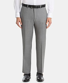 Men's UltraFlex Classic-Fit Sharkskin Wool Pants