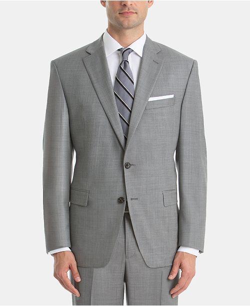Lauren Ralph Lauren Men's UltraFlex Classic-Fit Sharkskin Wool Suit Jacket