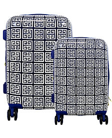 Macbeth Collection Geo Print Hardside 2-Piece Luggage Set