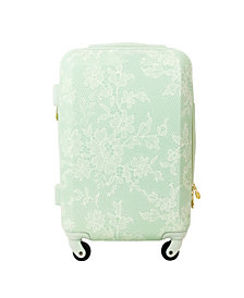 """Macbeth Collection Lace Texture Hardside 21"""" Spinner Suitcase"""