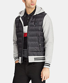 Polo Ralph Lauren Men's P-Wing Hybrid Down Hoodie, Created for Macy's