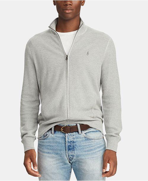3b21a6c7b88 Polo Ralph Lauren Men s Full-Zip Cotton Sweater   Reviews - Sweaters ...