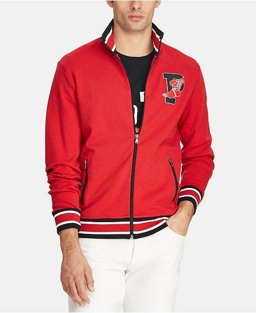 Polo Ralph Lauren Men's P-Wing Cotton Track Jacket, Created for Macy's