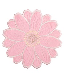 Joanie Round Figural Flower Placemat