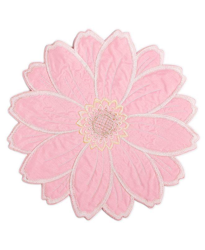 Homewear Joanie Round Figural Flower Placemat