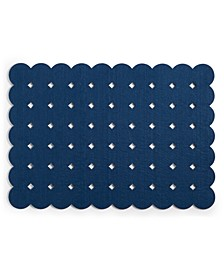CLOSEOUT! Felt Grid Dot Teal Placemat, Created for Macy's