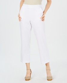 Alfred Dunner Petite Butterfly Effect Capri Pants