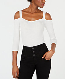 PROJECT 28 NYC Cold-Shoulder Sweetheart Bodysuit