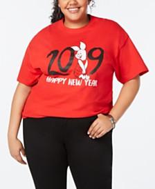 Disney Trendy Plus Size Cotton Piglet Graphic-Print T-Shirt