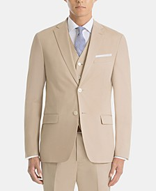 Men's UltraFlex Classic-Fit Cotton Tan Sport Coat