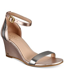 COACH Olive Colorblocked Wedges