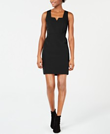 Bar III Notched-Neck Bodycon Dress, Created for Macy's