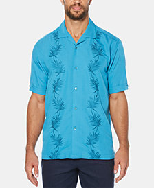 Cubavera Men's Camp Leaf Graphic Short-Sleeve Shirt