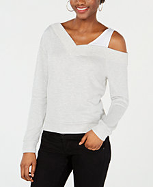Bar III Asymmetrical Off-The-Shoulder Top, Created for Macy's