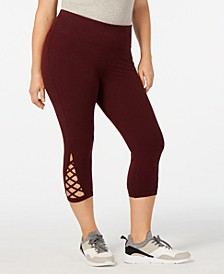 Plus Size Cutout Cropped Leggings, Created for Macy's