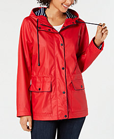 Charter Club Hooded Raincoat, Created for Macy's