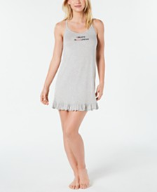 Jenni Ultra Soft Ruffled Knit Chemise Nightgown, Created for Macy's