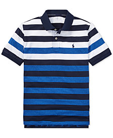 Polo Ralph Lauren Big Boys Striped Performance Lisle Polo