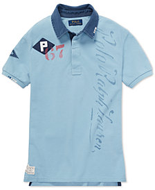 Polo Ralph Lauren Big Boys Graphic Cotton Rugby Polo
