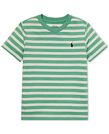 Polo Ralph Lauren Toddler Boys Striped V-Neck T-Shirt