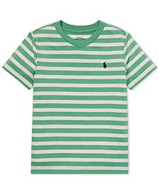 Polo Ralph Lauren Little Boys Striped V-Neck T-Shirt