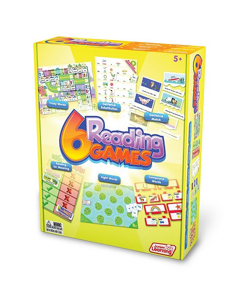 Junior Learning Reading Games Set of 6 Different Games