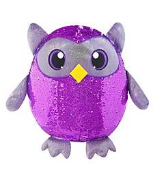 "Shimmeez 8"" Oliver Owl, Sequin Plush Stuffed Animal"