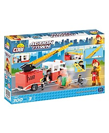 Action Town Fire Brigade Truck 300 Piece Construction Blocks Building Kit