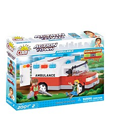 Action Town Emergency Ambulance 200 Piece Construction Blocks Building Kit