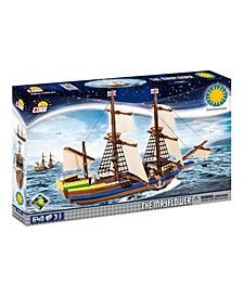 Smithsonian Pilgrim Ship Mayflower 640 Piece Construction Blocks Building Kit