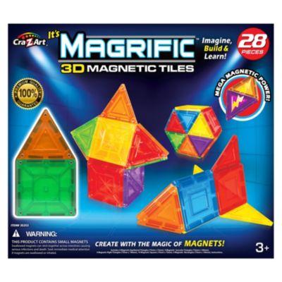 Cra Z Art Magrific 3D Magnetic Tiles Magnetic Toy Set 28 Piece