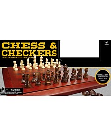 Cardinal Wood Chess Cabinet with Checkers