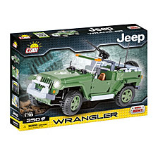 COBI Small Army Jeep Wrangler US Military 1 18 Scale 250 Piece Construction Blocks Building Kit