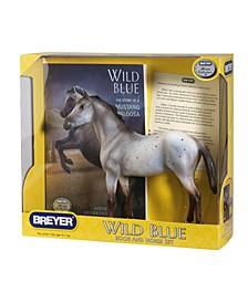 Horse Figurine and Book Set, Wild Blue
