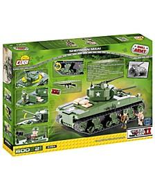 Small Army WW Sherman M4A1 Tank Construction Blocks Building Kit