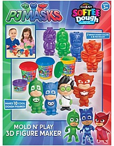 Cra Z Art Disney Junior PJ Masks 3D Mold N Play Softee Dough Figure Maker