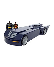 NJ Croce Batman The Animated Series Batmobile Car With Batman and Robin Mini Bendable Figures