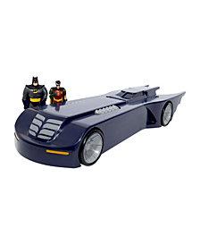 NJ Croce DC Comics Batman The Animated Series Batmobile Car With Batman and Robin Mini Bendable Figures
