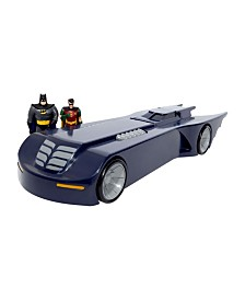 NJ Croce DC Comics Batman The Animated Series Batmobile Car With Batman and Robin Mini Bendable Figures