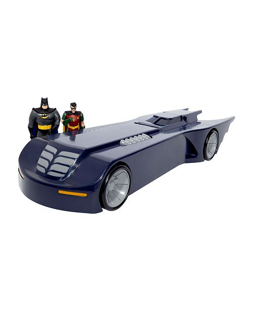 DC Comics NJ Croce Batman The Animated Series Batmobile Car With Batman and Robin Mini Bendable Figures