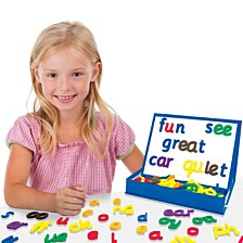 Junior Learning Rainbow Phonics Magnetic Letters and Built in Magnetic Board